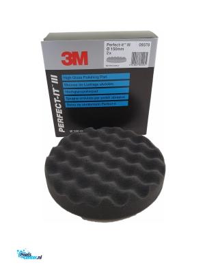 3M™ Perfect-It Hoogglans Wafelmop zwart 150mm 09378