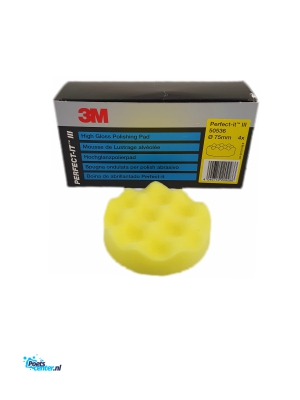 3M Perfect It Polijstpad 75MM geel 50536