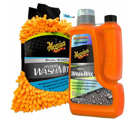 Meguiars G210256EU Hybrid Ceramic Wash & Wax en X210200 Hybrid Wash mitt Set